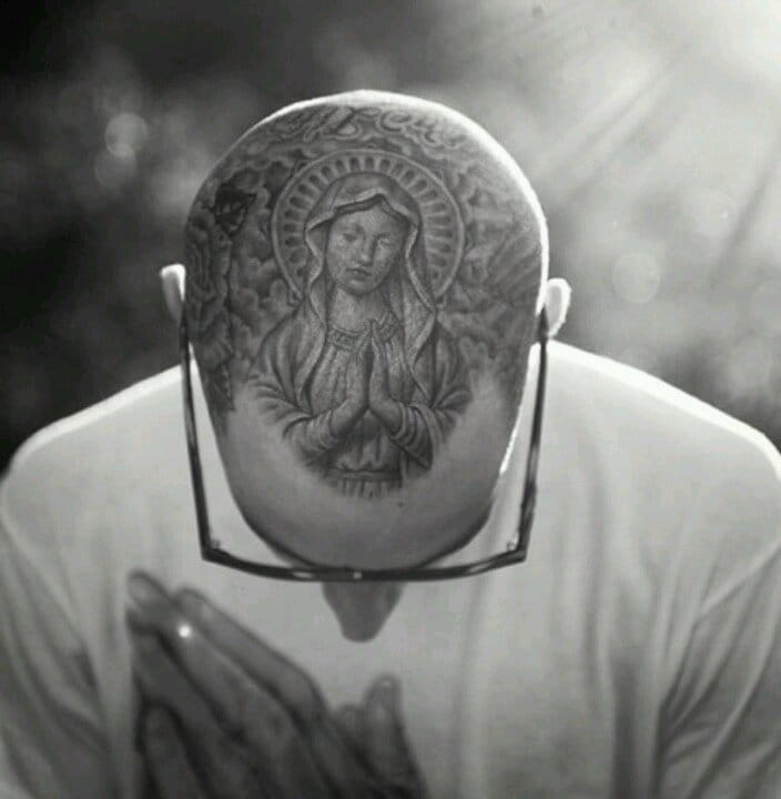 Blink-182 drummer Travis Barkers Virgin Mary tattoo