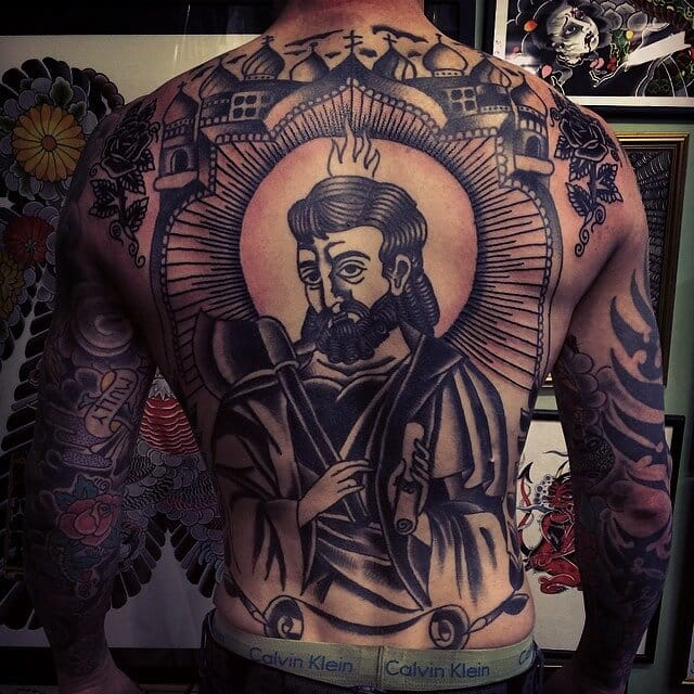 Saints Roman tattoo