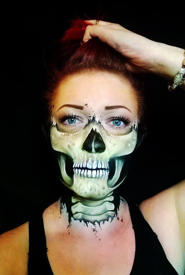 Tattooed Mom Turns Herself Into Horrific Creatures With Makeup
