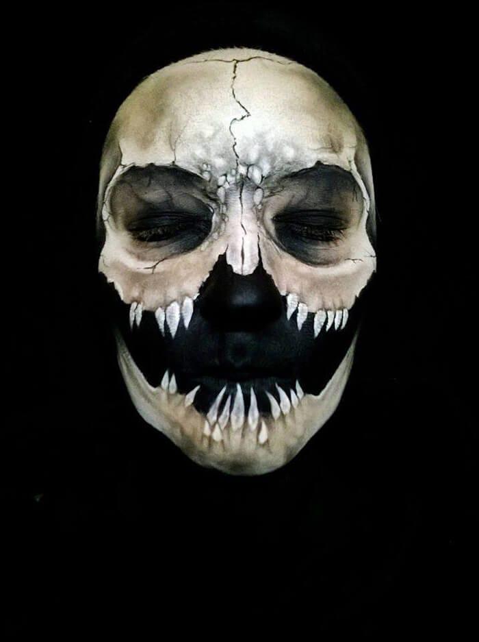 Creepy Makeup by Nikki Shelley