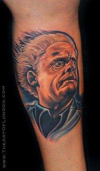 Cool colored portrait of Doc Brown