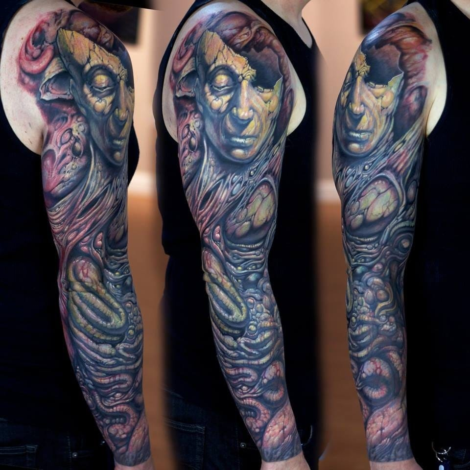 Crazy sleeve tattoo