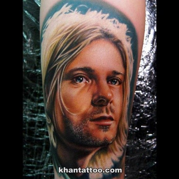 Kurt Cobain by Khan … Gorgeous.