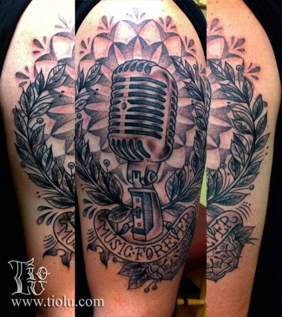 """""""Music Forever"""" tattoo by Daniel Tremblay."""