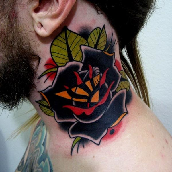 Gorgeous Black Rose Tattoo by Montalvo Tattoos