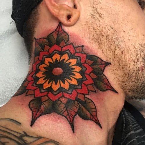 Traditional Flower Tattoo by Dannii Garbiras