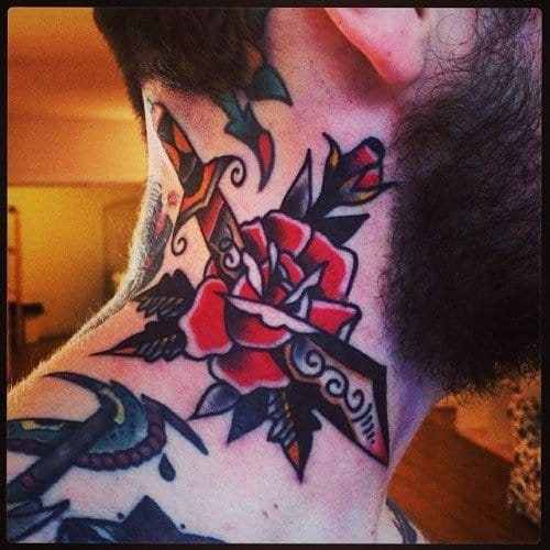 Rose Dagger Tattoo by Rich Hardy
