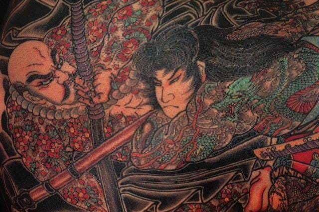 Detail on a tattoo by master Horiyoshi III.