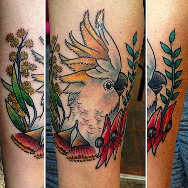 Great Cockatoo tattoo, artist unknown