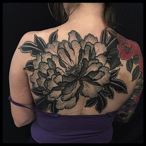 Big, Bold & Beautiful Peony tattoo by E. Jacobsen