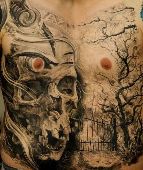 MARAVILHOSA tatuagem do mosntro Dmitryi Samohin!
