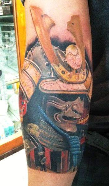 Masked samurai by Daniel Rocha.