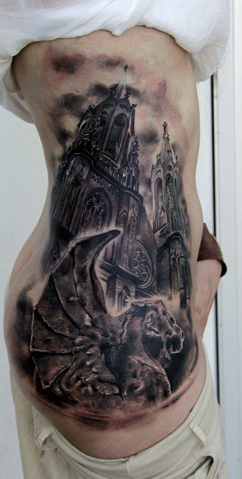 12 artistic church and cathedral tattoos tattoodo. Black Bedroom Furniture Sets. Home Design Ideas