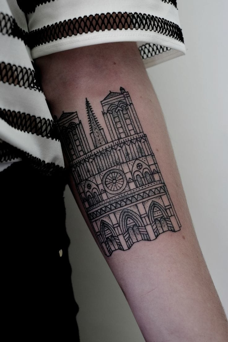 Black cathedral tattoo