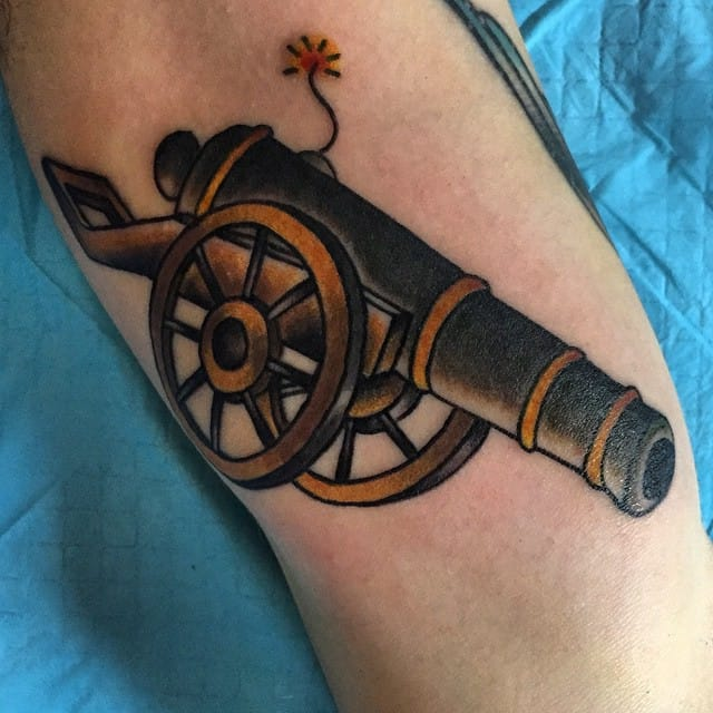 Great Cannon Tattoo by Trevor Rivard