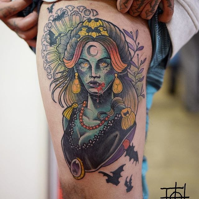 Nice neo traditional piece by Neto Lobo.