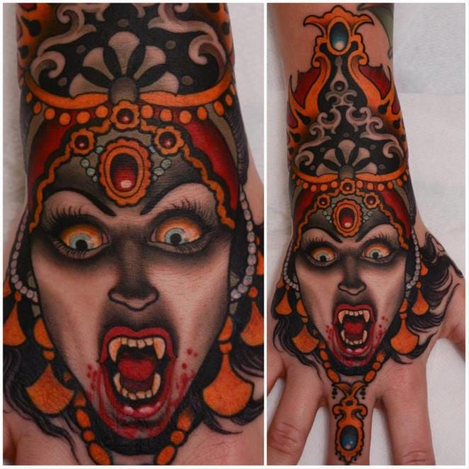 Badass hand tattoo by Peter Lagergren!