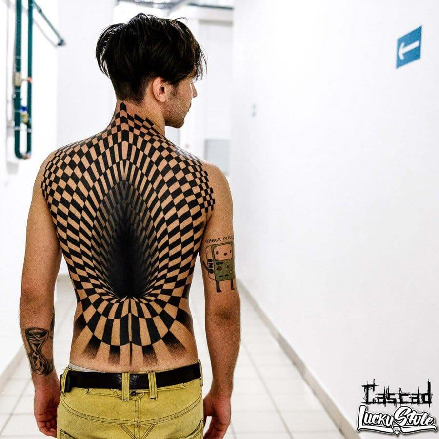 This crazy backpiece by Ilya Kandurov went viral too.