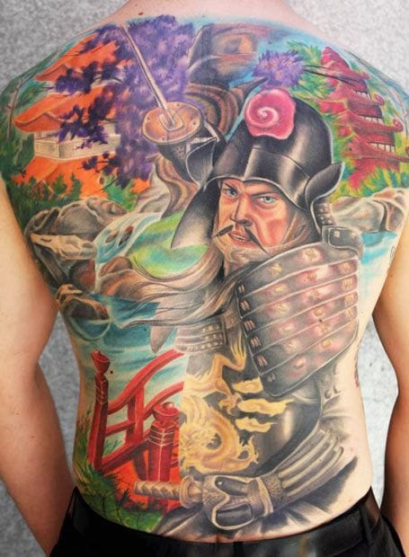 Colorful backpiece by Jason Stewart.