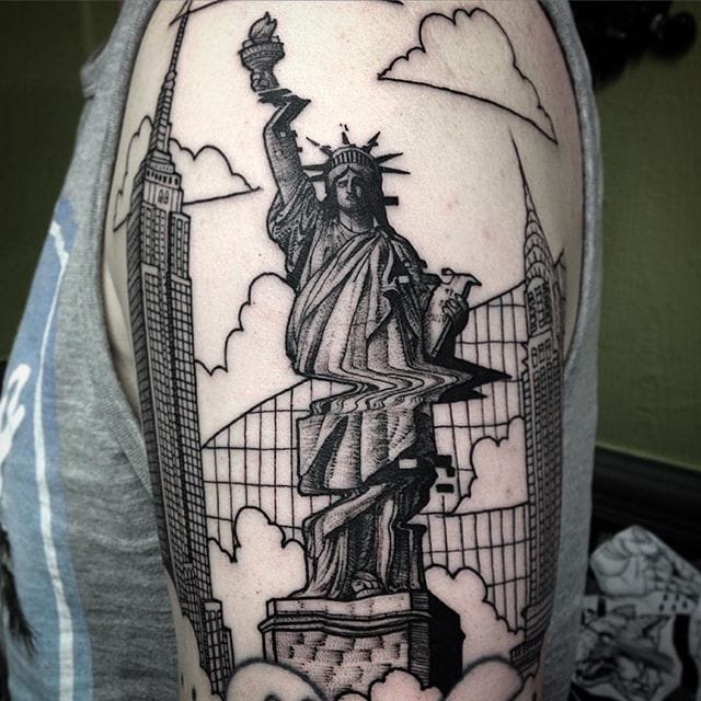 Glitch Liberty by Max Amos.