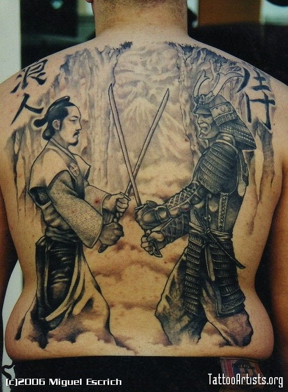 Manga backpiece by Miguel Escrich.