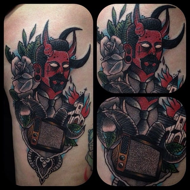 The Devil approves, by Ufoo Tattoo.