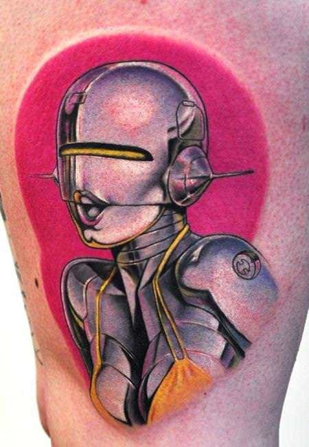 16 Fascinating Cyborg, Android And Robot Tattoos