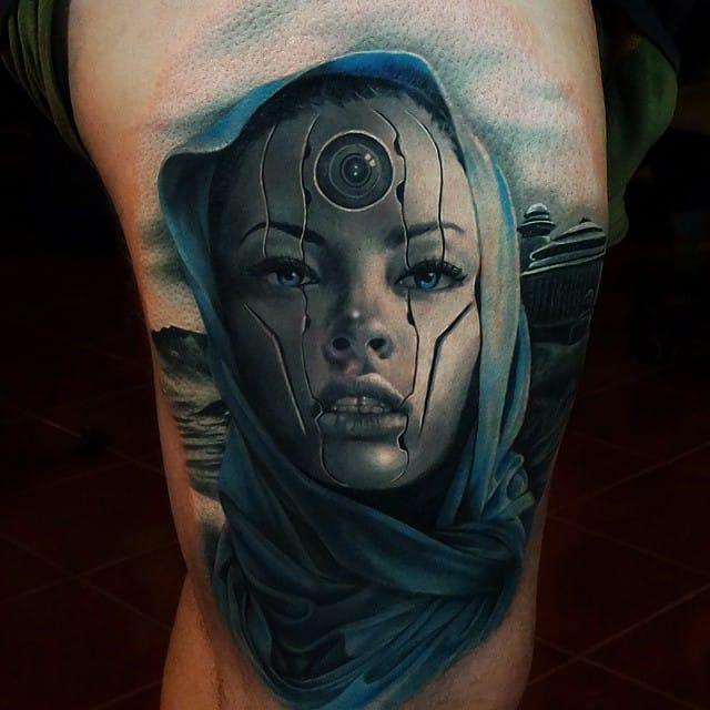 Impressive android by Csörsz Pèter aka Casper Tattoos.