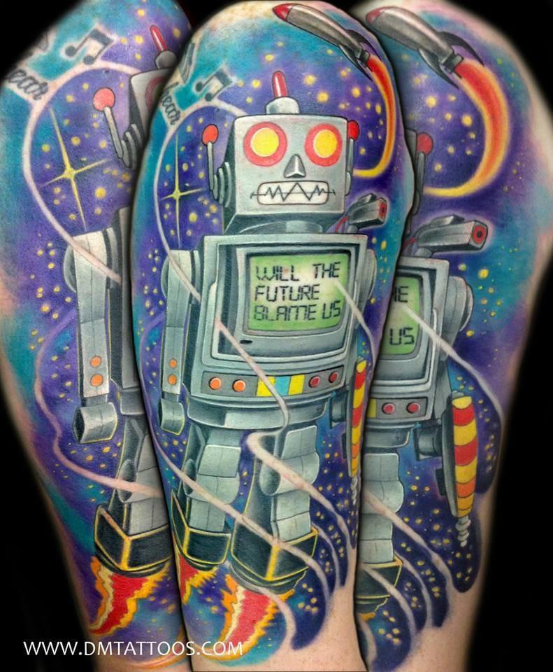 Funky robot by David Mushaney.