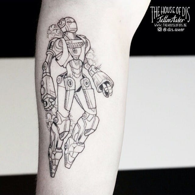 Linework robot by Dis Aster.