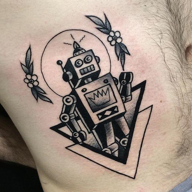 Classic robot by Renata Gregori.