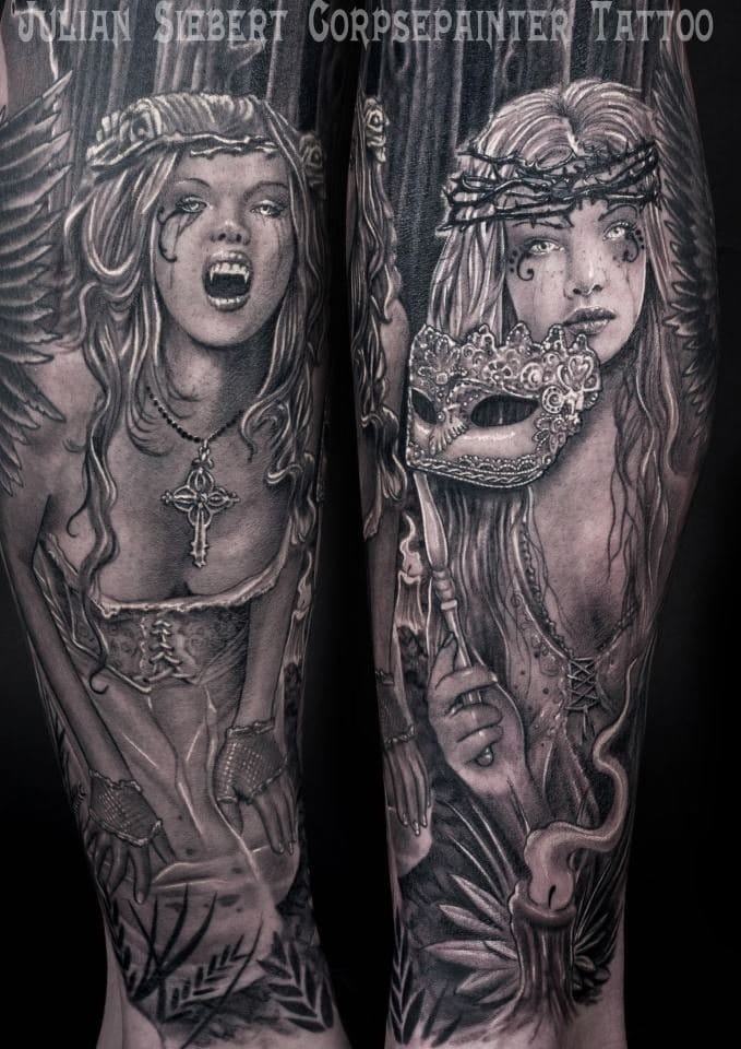 Gothic Victoria Frances Tattoos And Paintings For Your Inspiration