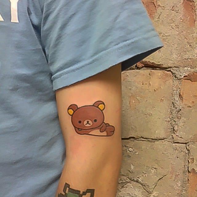 Chilled Rilakkuma Tattoo by Numi Mousie