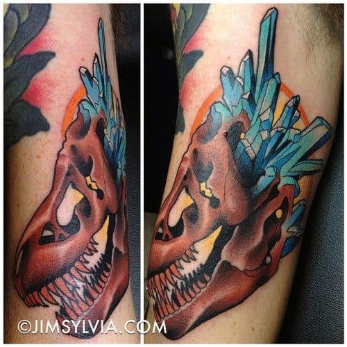 Crystal Dinosaur by Jim Sylvia