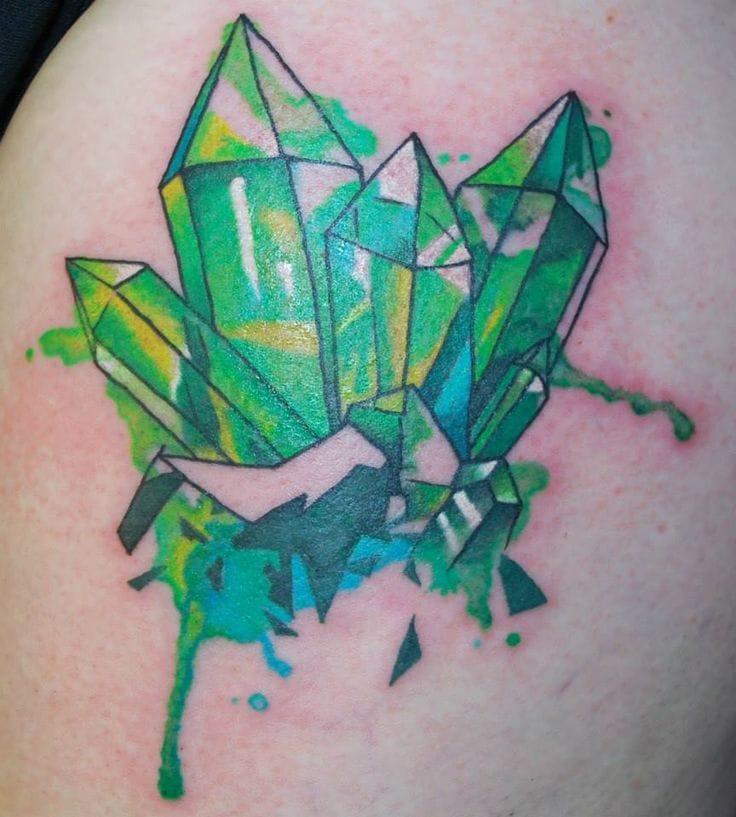 Green Crystal Tattoo