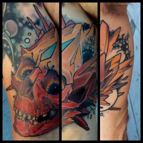 Crystal Skull Tattoo by Mike Moses