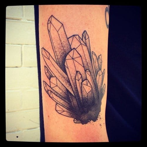 Crystals Tattoo by Barbe Rousse