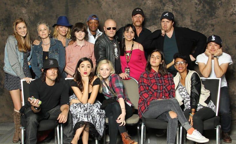 Uma parte do elenco do seriado para a TV