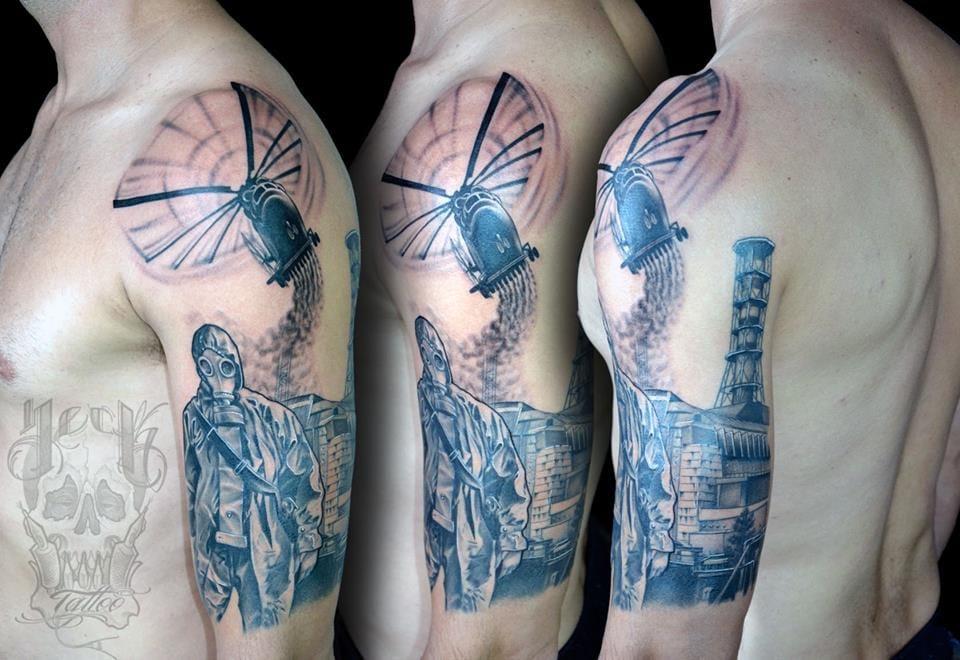 Tatuagem do acidente em Chernobyl