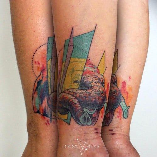 interesting tattoo design by Cody Eich