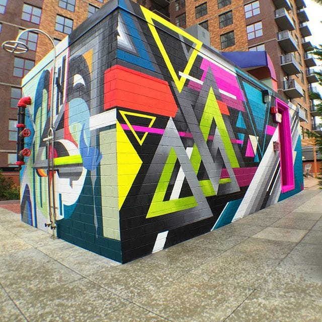Sick Geometric Wall! via @jaymackmuzik