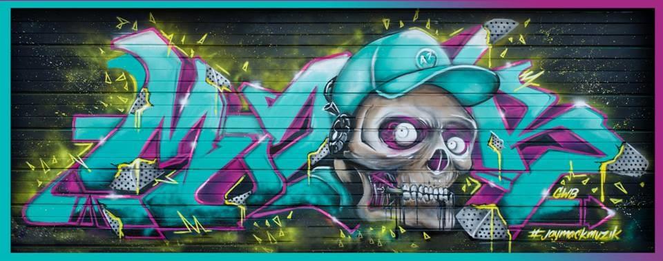 Skull Mural, via facebook.com/Mack-Muzik