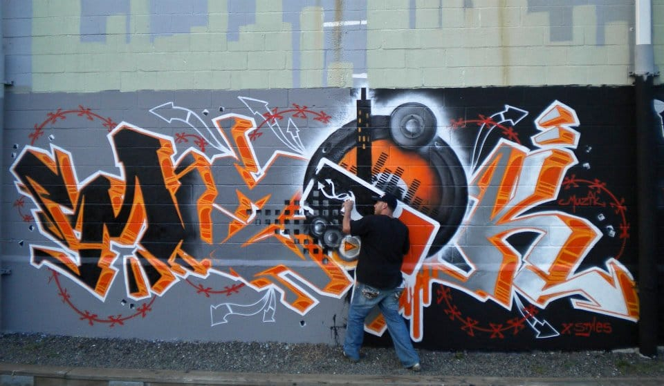 At Work in A Sick Mural! via facebook.com/Mack-Muzik