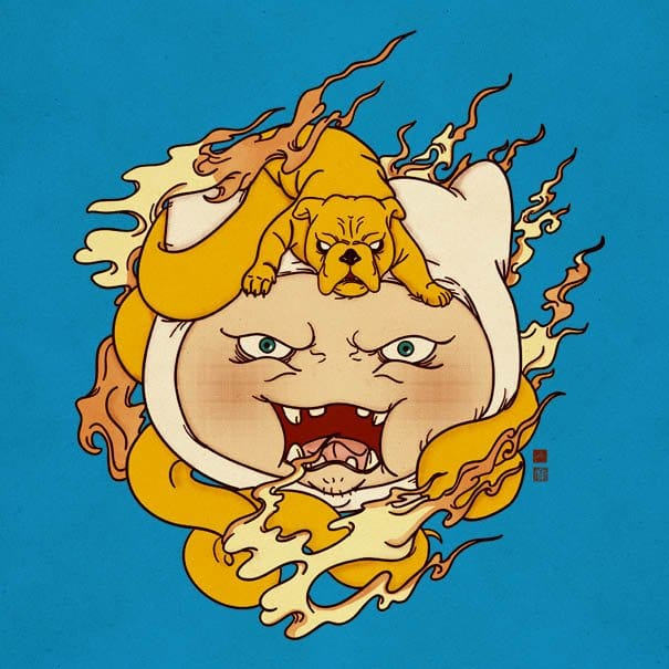 Rad Adventure Time Tattoos In Traditional Japanese Style