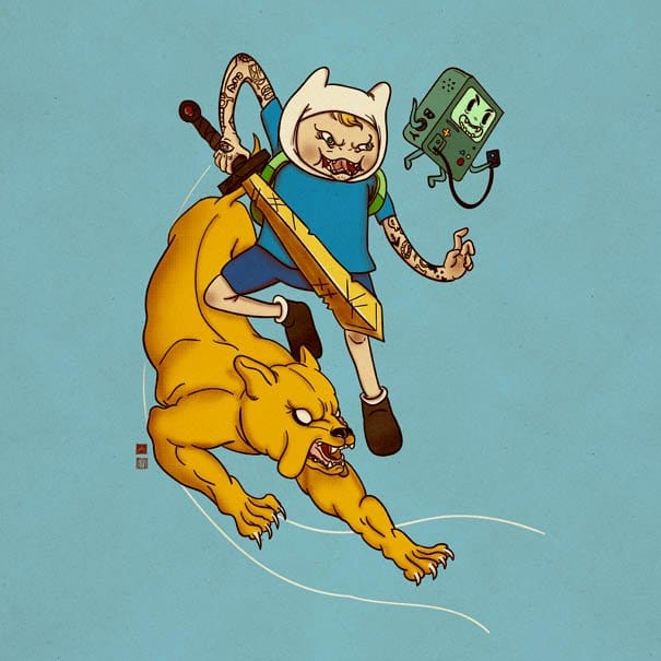 This is making me want a complete Adventure Time sleeve!