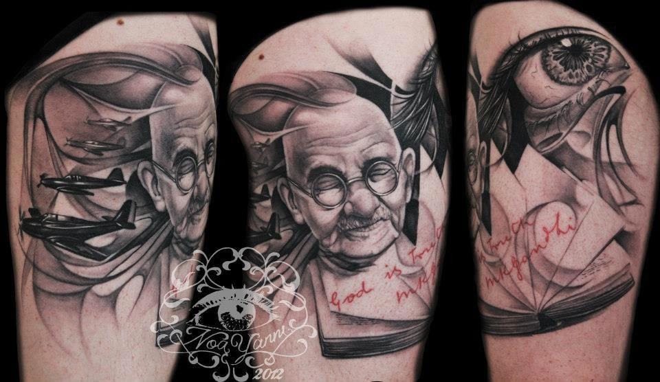 6 Inspirational Mahatma Gandhi Tattoos