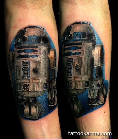 Solid photo of realistic R2D2