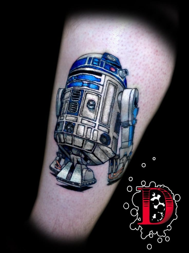 Solid R2D2 tattoo