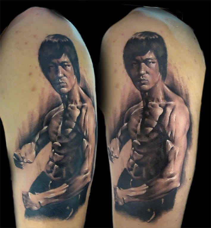 Bruce Lee Black and Gray