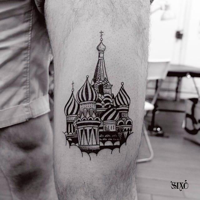15 Splendid Russian Dome Tattoos